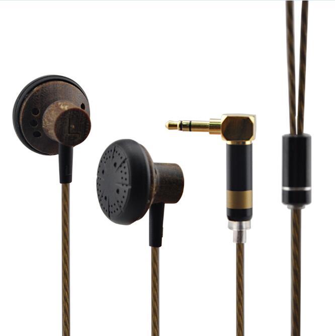 Original YINMAN 150ohm Earbuds Wooden HIFI Earphone High Impendence Headset Better Than Monk Earburd Flat Plug