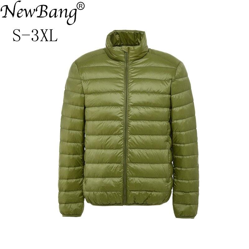 NewBang Brand   Down     Coat   Male Ultra Light   Down   Jacket Men Stand Collar Winter Windbreaker Warm Lightweight Parka Puffer Jacket