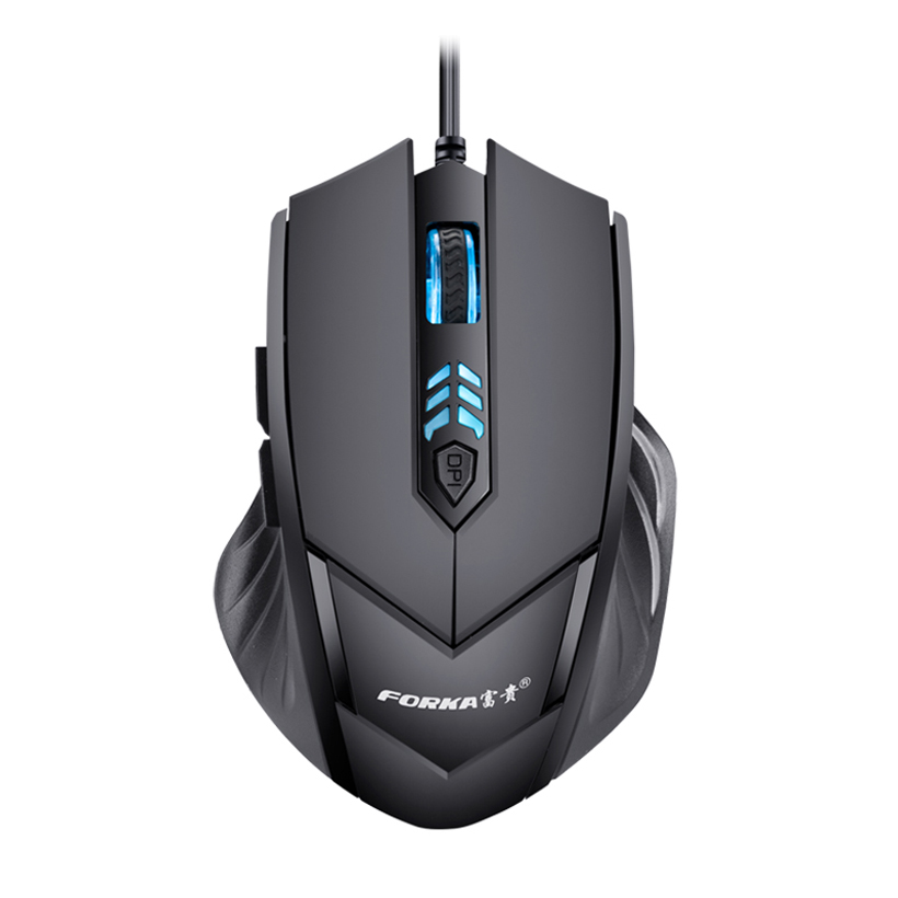 Forka Ergonomic Frosted Wired Gaming Mouse 6Buttons 2400DPI Adjustable Silent Click Optical USB Computer Mouse For PC Laptop
