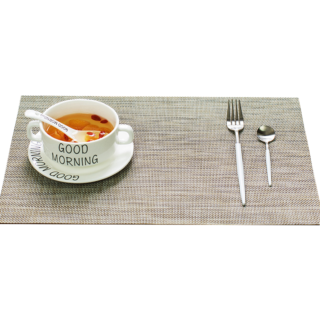 Europe Style Placemat for Dining Table Mats Set Bowl Pad Napkin Dining Table Tray Mat Coasters Kids Table Set Accessories ...