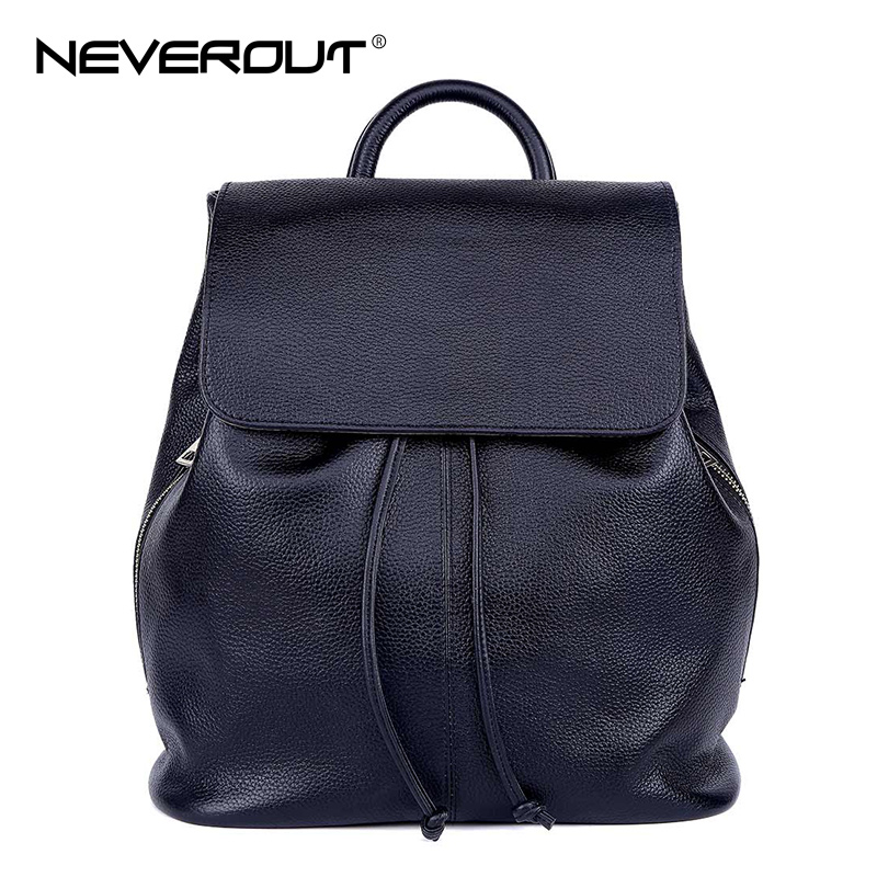 NeverOut New Design Women Backpack Brand Name Lady Backpacks Genuine Leather Girls School Bags Style Solid Female Travel Bags lady backpacks bags soft pu leather brand design women shoulder bags new girls students teenager school back pack daypacks totes