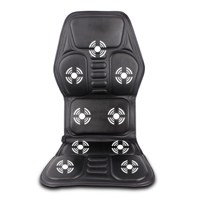 Car Home Office Full-Body Massage Cushion.Heat Vibrate Mattress.Back Neck Massage Chair Massage Relaxation Car Seat 12V