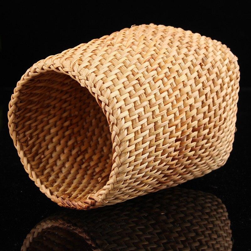 6 pièces/ensemble à la main en rotin de haute qualité chinois Kongfu thé cérémonie ustensiles ensemble bambou thé accessoires outils - 4