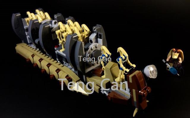 2016 Nuevo 565 unids Bela 10374 Star Wars Droide de Batalla de la Nave Espacial de Transporte de Tropas buque Crucero Jar Binks blaster brinquedos leping