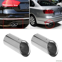 цена на Quality Picks Stainless steel Exhaust Muffler Tip Pipe For VW Volkswagen Jetta MK6 1.4T Golf 6 Golf 7 MK7 1.4T auto accessories