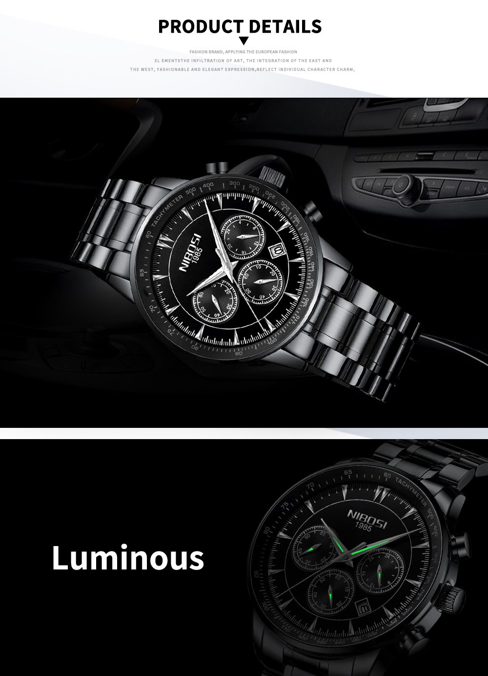 NIBOSI Gold Watch Mens Watches Top Brand Luxury Sport Men's Quartz Clock Waterproof Military Wrist Watch Relogio Masculino Saat 20