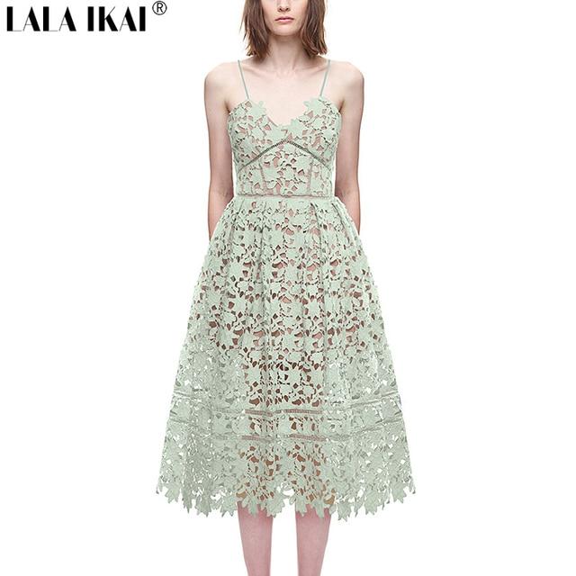 36164059 2016 Fashion Brand Design Azaelea Dress In Mint Green Women Lace Hollow  Beach Bohemian Midi Dresses Women Strap Halter QWA0339-5