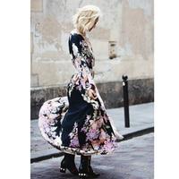 KHALEE YOSE Black Floral Boho Kimono Cardigan Women Long Blouse Loose Batwing Sleeve Belted Summer Beach Hippie Top Blouses 2019