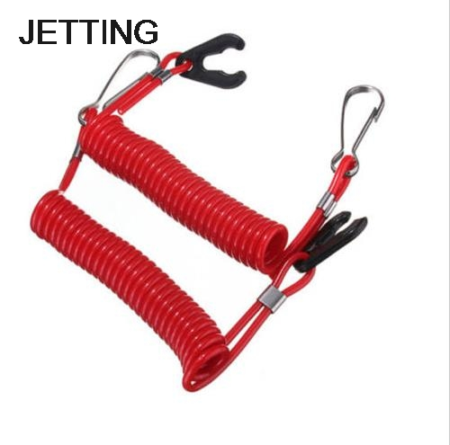 JETTING 1PC Boat Outboard Engine Motor Lanyard Kill Stop Switch Safety Tether