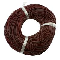 Leather Beading Cord, Cowhide Leather, Necklace Making Material, Chocolate&Black&Peru, Size: about 4mm thick, about 100m/bundle