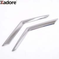 2 Pcs Set ABS Chrome Front Grille Grill Cover Trim For 2014 2015 Nissan X Trail