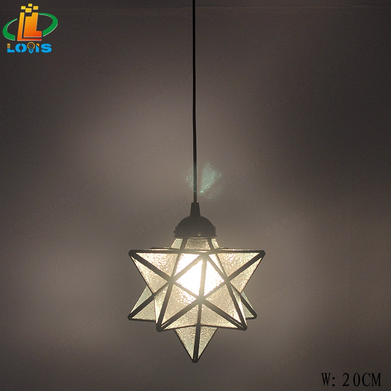 Five-pointed star creative personality small chandelier bedroom bar Taiwan American star single head Nordic corridor aisle lamps