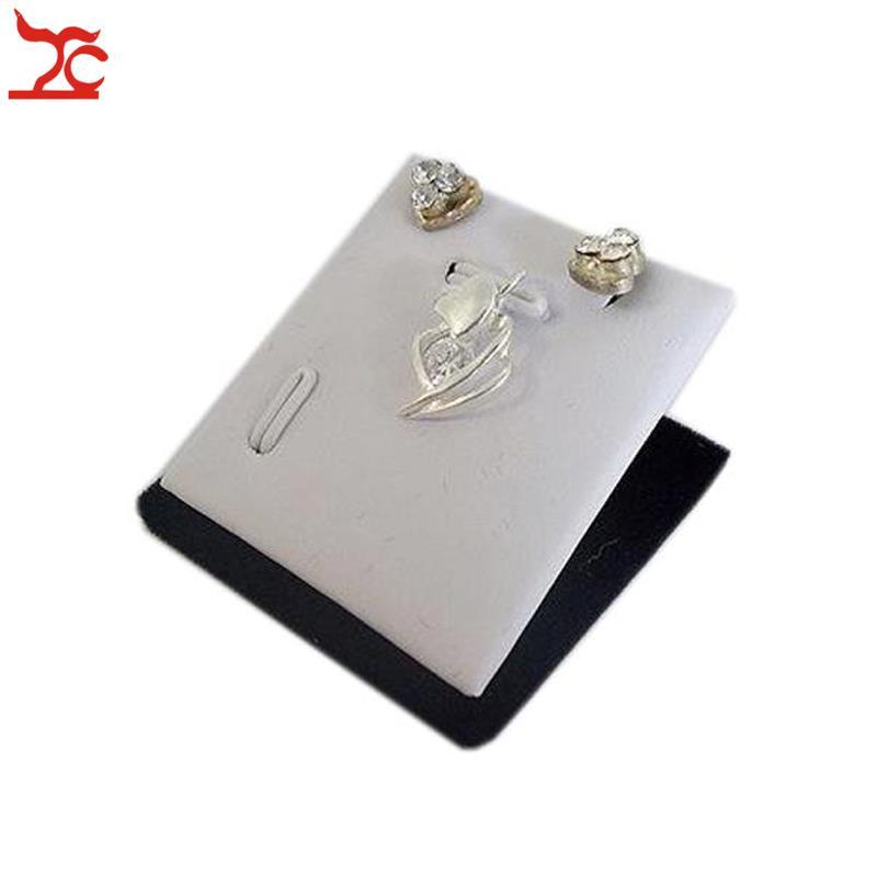 Retail Red Velvet Jewelry Display Stand Earring Pendant Sheet Holder