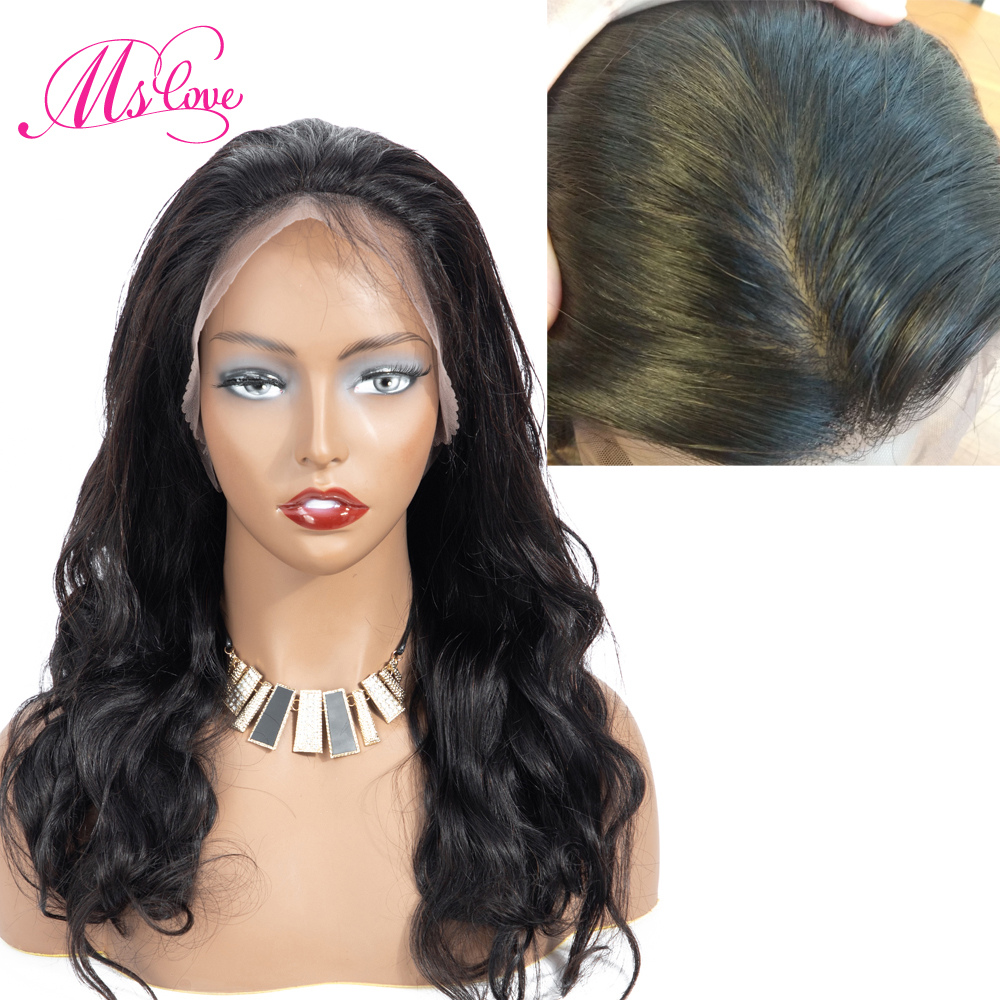 Silk Base Wigs Body Wave 13X4 Lace Front Human Hair Wigs Pre-Plucked Non Remy Brazilian Wigs For Black Women Ms Love