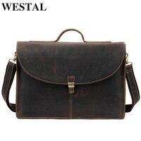 WESTAL 100% натуральная кожа мужская деловая сумка для мужчин сумка мужская сумка на плечо кожаная сумка портфель сумки для документов