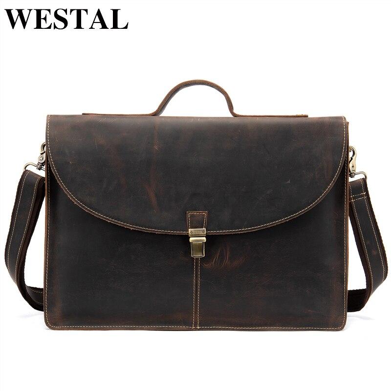 Für Westal Tasche Männlichen Umhängetasche Bussiness Männer Leder Dokument Aktentasche Mann Echtem Schulter Handtaschen 2853f4coffee 100 UYFUwR
