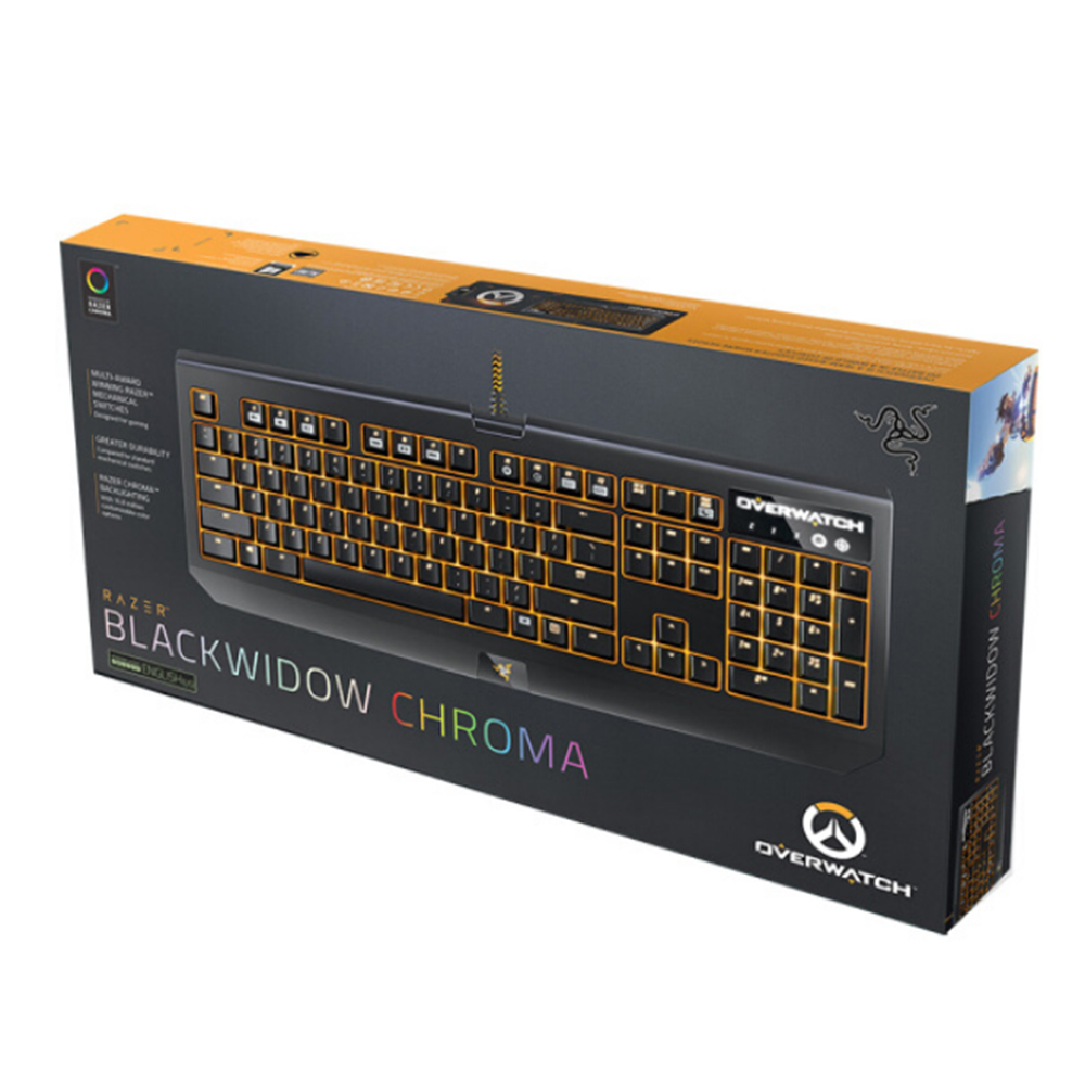 64ddbb2a947 Razer Overwatch BlackWidow Chroma Mechanical Gaming Keyboard 104 Keys Green  Switch RGB Backlit Fully Programmable Clicky -in Keyboards from Computer ...