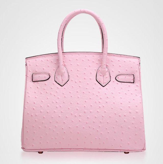 Fashion Ostrich Genuine Leather Women handbagBag ladies' Tote Shoulder Bag Messenger Bag~Quality Guaranteed~16B13