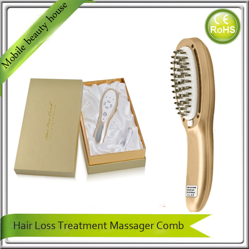 Anti Hair Loss Regrowth Electric Hai Scalp Follicle Stimulator Vibrating Massager Comb ipl laser hair regrowth massager vibrator comb for electric scalp stimulator hair loss hair growth treatment