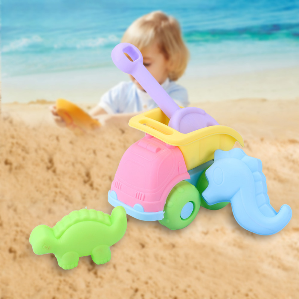 Beach Toys High quality Castle Bucket Rakes Sand Cars Outdoor Beach Play Toy Summer Baby Bath Toys Set For Children Gifts 2018