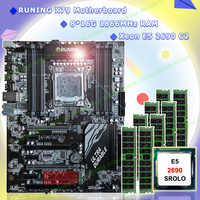 Motherboard on sale Runing Super X79 gaming motherboard bundle 8 DDR3 DIMM CPU Intel Xeon E5 2690 C2 2.9GHz RAM 128G(8*16G) RECC