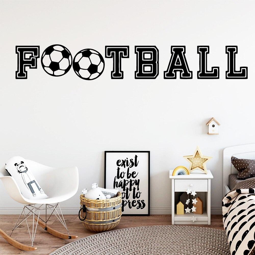 Drop Shipping Deportes Fútbol sala de estar decoración dormitorio Mural niños habitación decoración decorativo vinilo adhesivo de parede