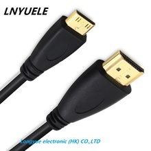 1FT 0.3m 0.5m 1m 1.5m 2m 3m 5m 1.4v/2.0v High Quality MINI HDMI TO Cable Lead C to A Gold plated 3D HDTV  Free shipping