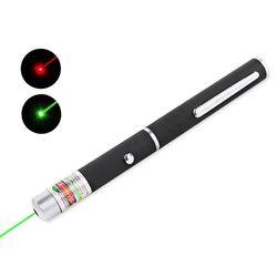 Высокое качество лазерная указка красный/зеленый 5 мВт Мощный 500 м Лазерное Перо профессиональное лазерный указатель без 2 * AAA батареи для об...