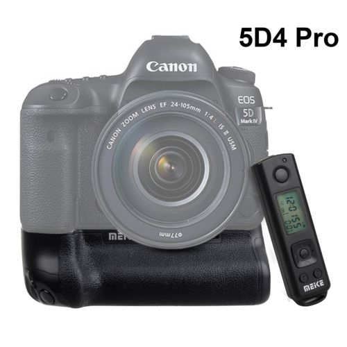 Meike MK-5D4 PRO Battery Grip With 2.4G Wireless Remote for Canon 5D Mark IV as Canon BG-E20 with LP-E6 Battery and Charger camera battery grip pixel bg e20 for canon eos 5d mark iv dslr cameras batteries e20 lp e6 lp e6n replacement for canon bg e20