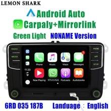 녹색 안드로이드 자동 Carplay Noname RCD330G RCD330 플러스 그린 버튼 자동차 라디오 6RD 035 187B Skoda Octavia Fabia Superb Yeti