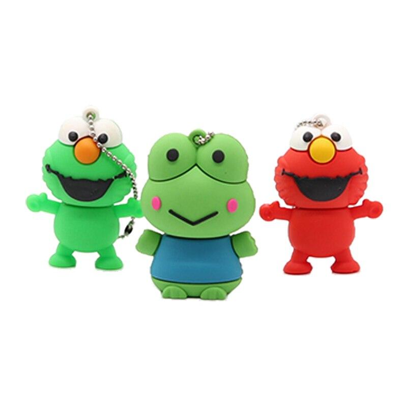 Cartoon frog style usb flash drive pen drive 4gb 8gb 16gb usb stick pendriver USB 2 0 u disk thumb pen drive cle usb 2 0 in USB Flash Drives from Computer Office