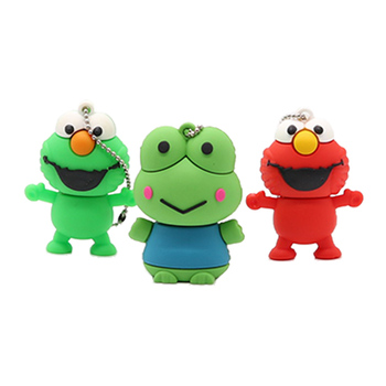 Cartoon frog style usb flash drive pen drive 4gb 8gb 16gb usb stick pendriver USB 2.0 u disk thumb pen drive  cle usb 2.0 idomax l001 turquoise style usb 2 0 flash drive lake blue 16gb