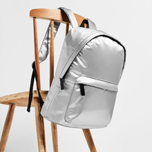High quality Silver Backpacks Unisex Glossy Backpack Men Women Teenage Girls Boys School Laser Holographic Waterproof Rucksacks