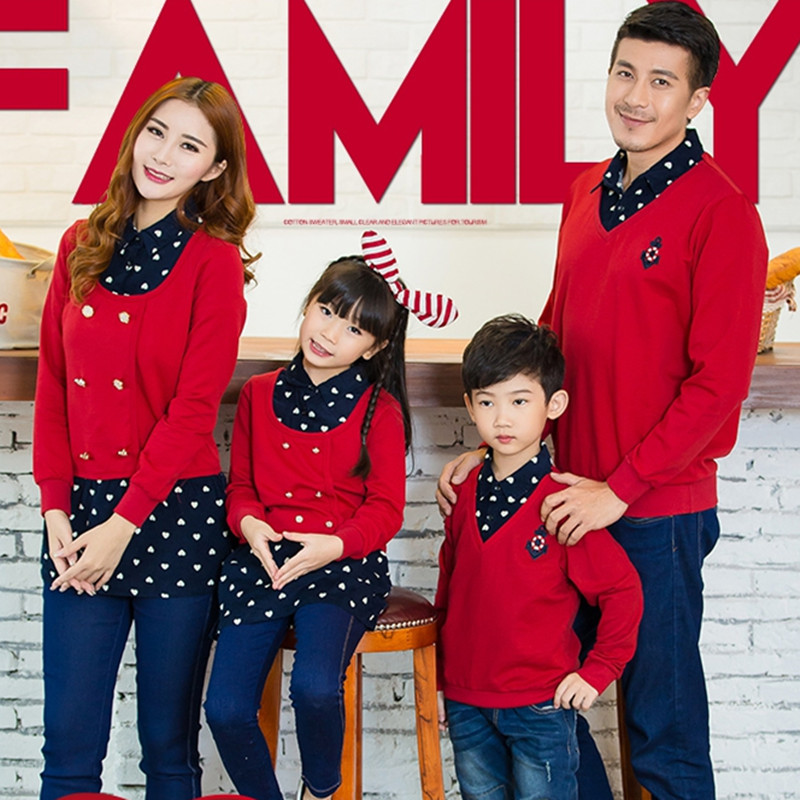 Matching Family Christmas Outfits.Us 10 44 5 Off Kids Clothing Mother And Daughter Clothes Family Matching Look Outfits Father Son Baby Shirt For Christmas Sweaters Family In