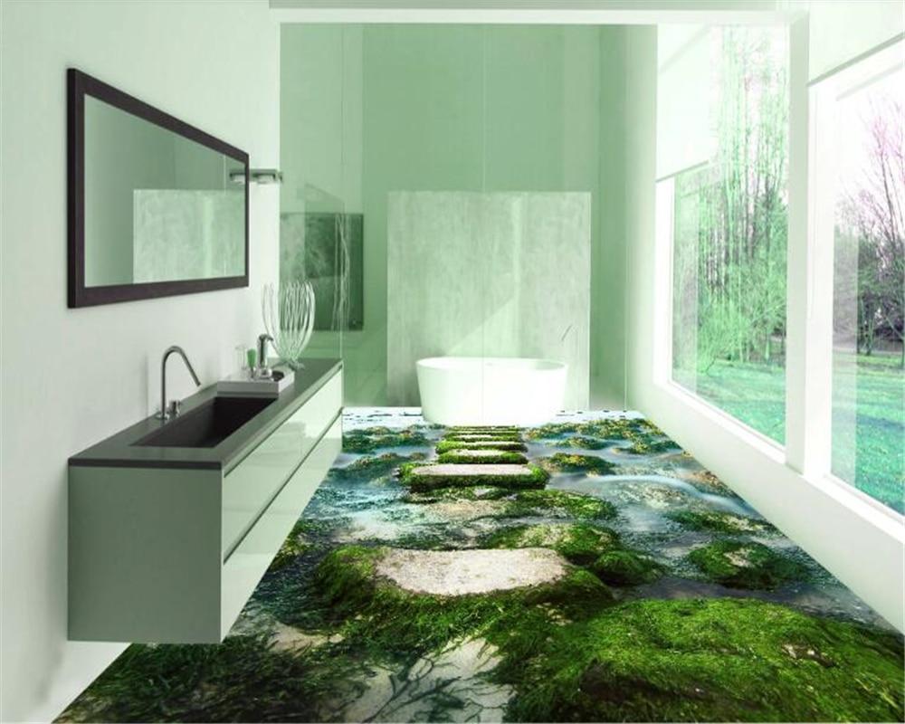 где купить beibehang Custom waterproof self adhesive beach pier floor 3D wallpaper floor floor tile wallpaper for walls 3 d papel de parede по лучшей цене