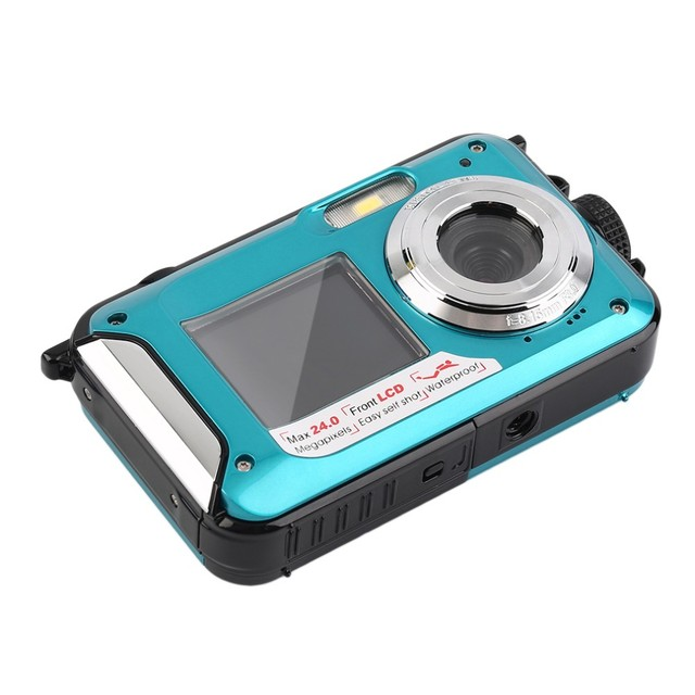New 2.7 inch TFT Digital Camera Waterproof 24MP MAX 1080P Double Screen 16x Digital Zoom Camcorder Built-in loudspeaker Micphone