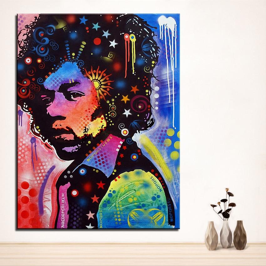 Large Size Print Oil Painting Wall Painting Jimi Hendrix Pop Art