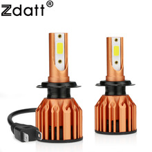 Zdatt 10000LM H1 H4 H7 Led H8 H11 HB3 9005 HB4 9006 Headlights Bulbs 80W 6000K 12V 24V COB Car Light Automobiles Auto Lamp