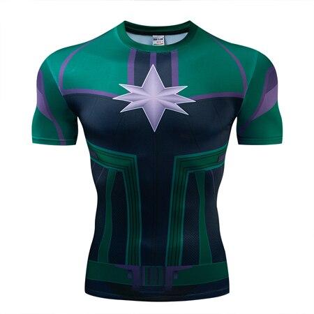 Мстители эндгейм футболка Квантовая царство компрессионная с коротким рукавом для мужчин тренажерный зал Спорт Фитнес окрашенные футболки спортивная одежда для мужчин - Цвет: DX-056