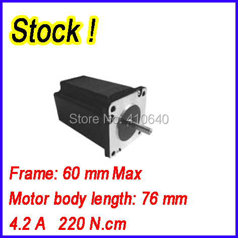 ФОТО In Stock! Free shipping step motor 24HS8404 4.2 A  220 N.cm with 4 lead wires and  step angle 1.8 degree
