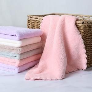 Towel Pinafore Cleaning-Face Baby Cartoon Home Melange 4pcs 25x25cm Superfine-Fiber Kids