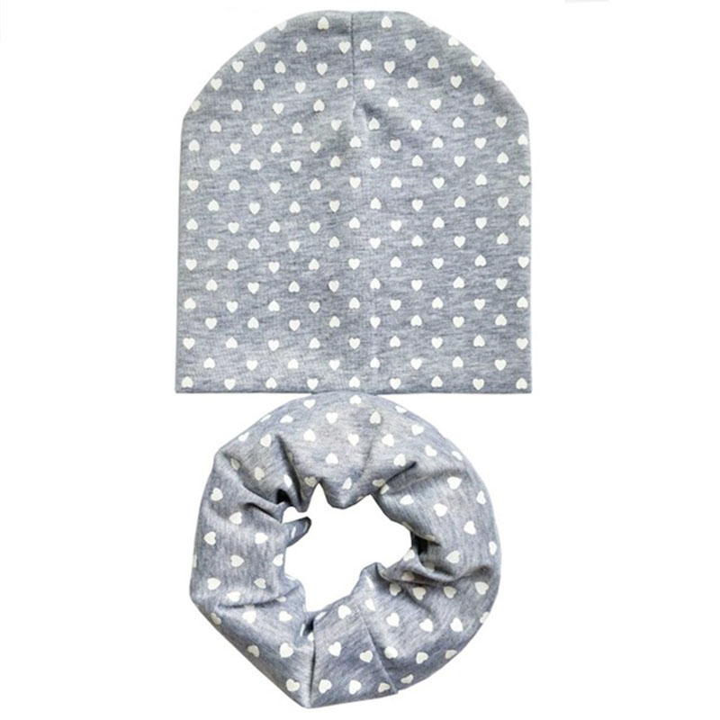 2Pcs/Set Autumn Spring Crochet Baby Soft Hat Girl Boy Cap Kids Love Heart Infant Hat Cotton New Children Collar Scarf Baby Cap trendy cotton fedora hat cap black