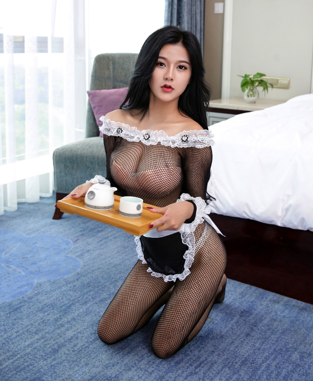 Maid Outfit Uniform Sexy Costumes Sex-Games Lolita Erotic Adult Hot-Sexy Temptation Black