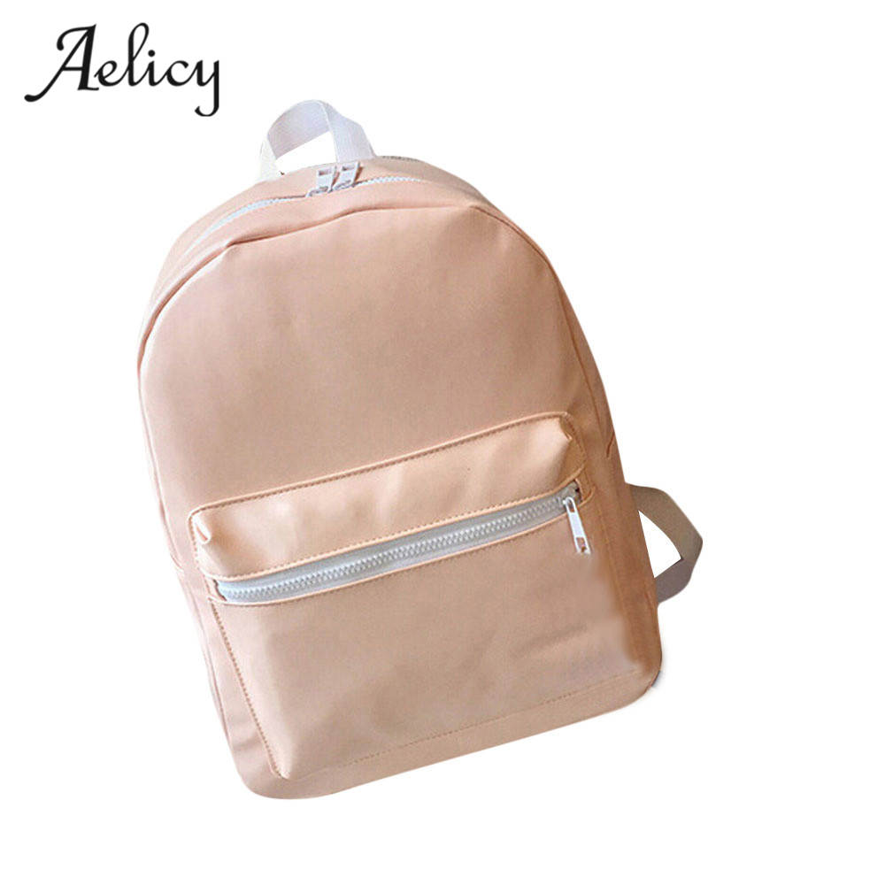Aelicy Preppy Style Leisure Girls Boys Leather School Bag Travel Backpack Satchel Women Shoulder Rucksack Mochila KnapsackAelicy Preppy Style Leisure Girls Boys Leather School Bag Travel Backpack Satchel Women Shoulder Rucksack Mochila Knapsack