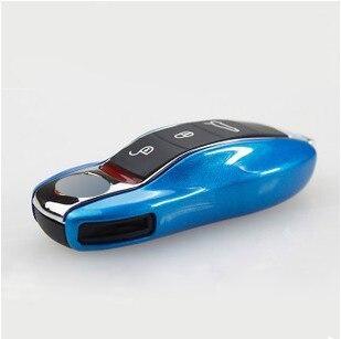 Clé de voiture cas de protection shell ABS en plastique style sac boîte pour porsche cayenne macan cayman boxster 911