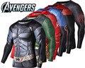 Новый Бренд Clothing Фитнес Сжатия Рубашка Мужчины Супермен Бэтмен Iroman Crossfit Бодибилдинг Длинным Рукавом 3D Футболка Топы