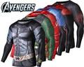 New Brand Clothing Fitness Compression Shirt Men Superman Batman Iroman Bodybuilding Long Sleeve 3D T-Shirt Crossfit Tops