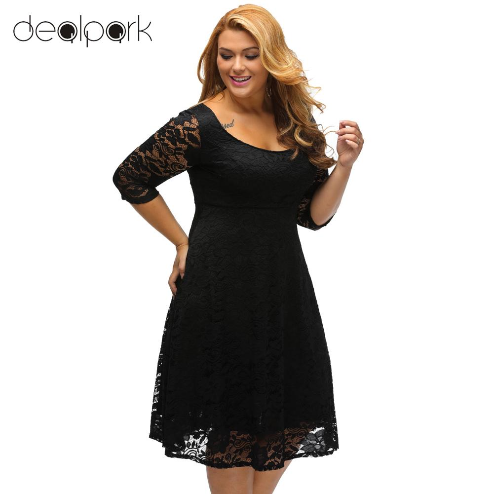 New vestidos Big Plus Size XXXL Sexy Casual Lace Party Bodycon ...