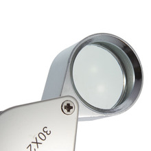 Free Shipping Mini 30x 30x21mm Loupe Magnifier Magnifying Triplet Jewelers Eye Glass Jewelry Diamond