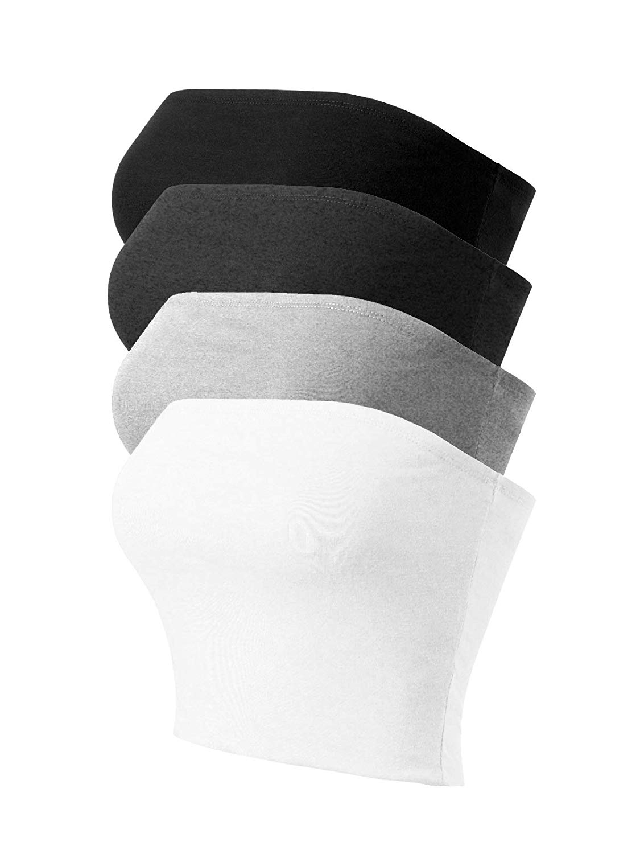 Causale delle donne Senza Spalline Carino Solido di Base Superiore Del Tubo Del Cotone delle donne di abbigliamento 15 pezzi